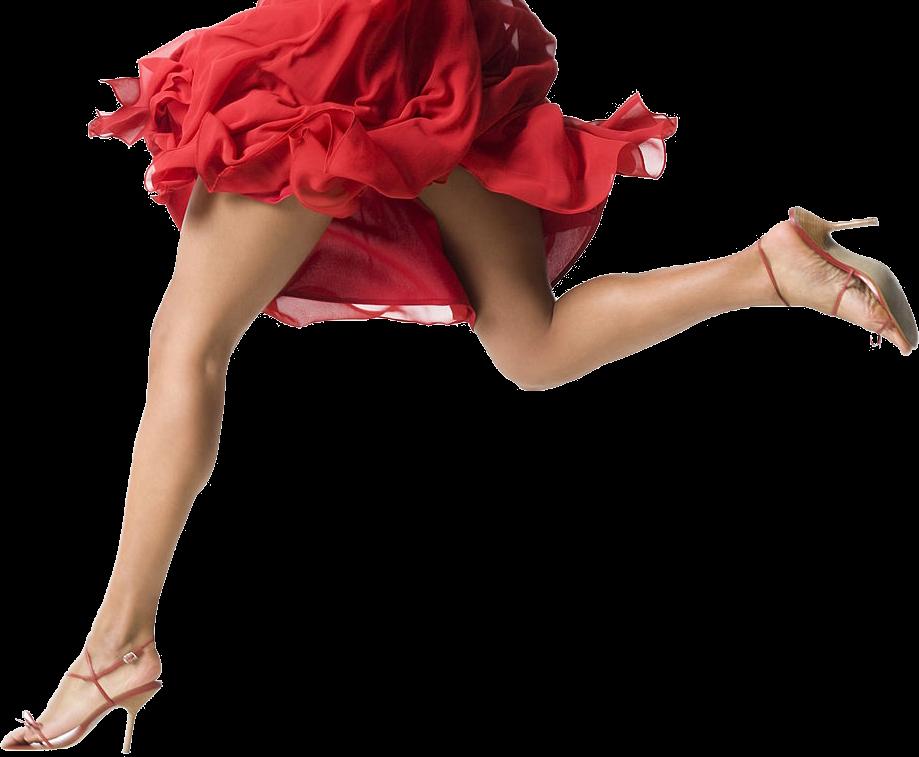 nice legs in red dress